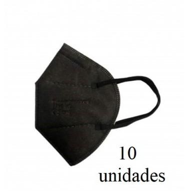 Caja mascarillas FFP2 negra 10u